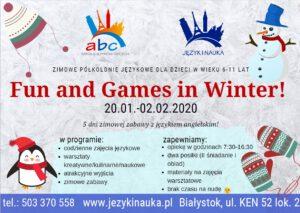 Półkolonie zimowe Białystok 2020